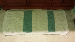 Learn how to crochet a bathroom rug pattern