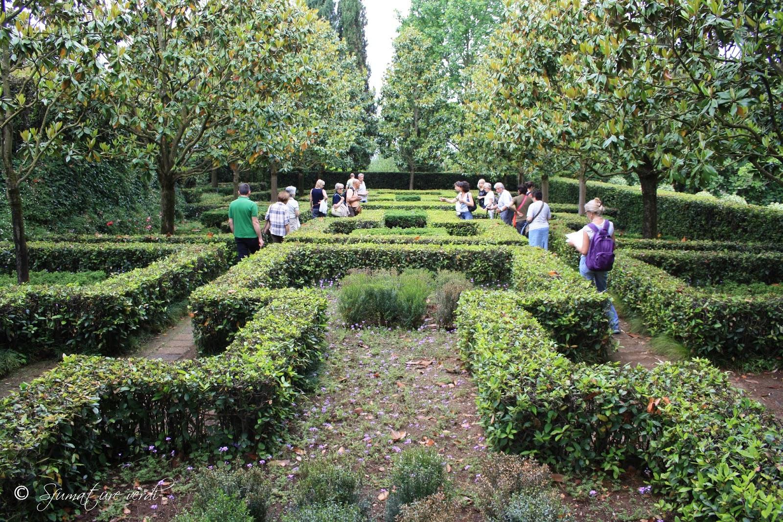 I giardini della landriana sfumature verdi for Disegno giardini