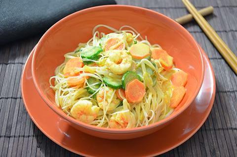 Spaghetti di riso gamberi e verdure  Le Ricette de La Cucina Imperfetta