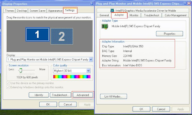How to Check Graphic Card Memory in the Windows XP