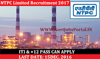 NTPC Limited Recruitment -2017