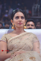 Actress Rakul Preet Singh Stills in Golden Embroidery saree at Rarandoi Veduka Chuddam Audio Launch .COM 0012.jpg