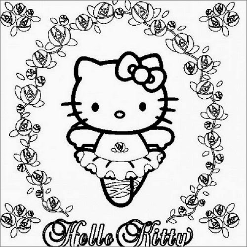 Poetizzando: Disegni da colorare Hello Kitty natale