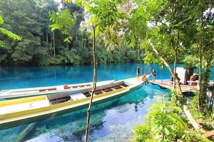 tempat dan objek wisata telaga biru