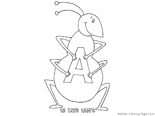 Alphabet Coloring Pages A For Ant