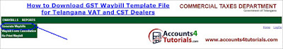 download excel file for gst waybill for telangana dealers