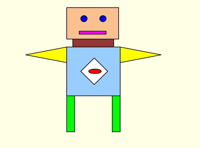 початкові класи: Малюнок іграшка з геометричних фігур.