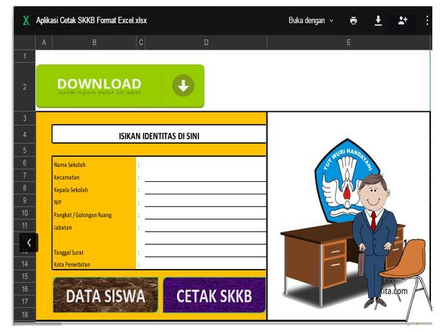 Aplikasi Cetak Skkb Format Excel Xlsx Format File Guru