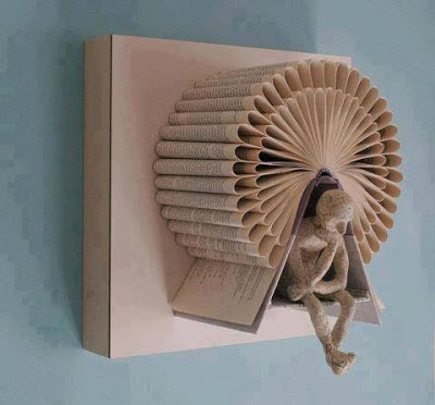 creativity with old book on wall