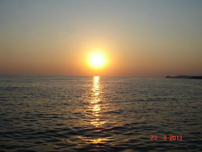apus de soare la Salonikios