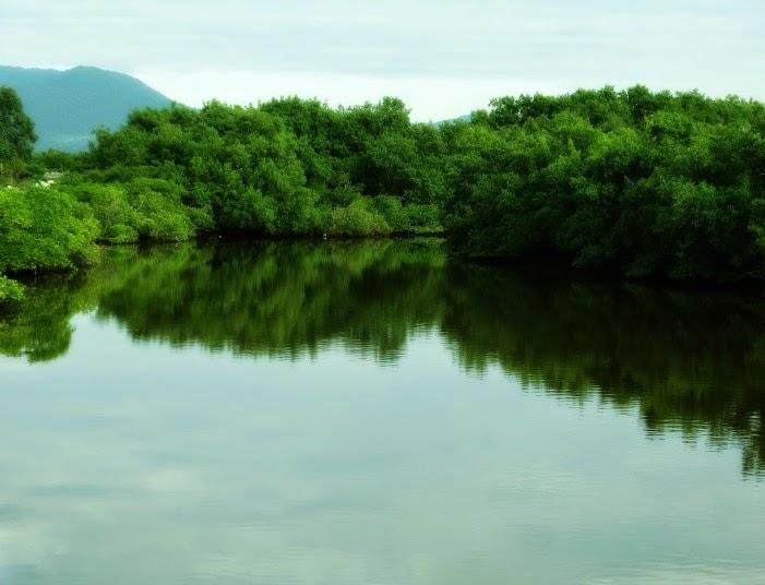 Rio Perequê, na divisa com Itapema