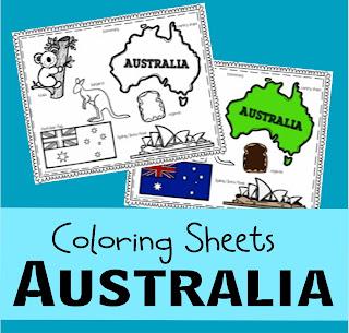 Australia Coloring Sheets