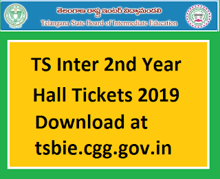 Manabadi TS Inter 2nd year Hall Tickets 2019 Download