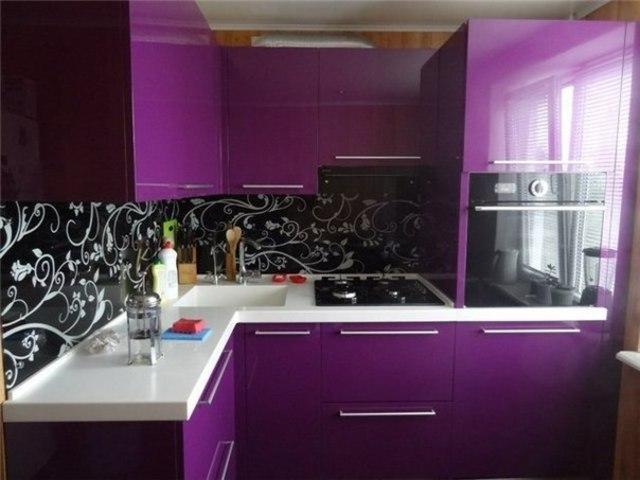 40 Inspirasi Desain Dapur Minimalis Warna Ungu Yang Indah Dan Modern