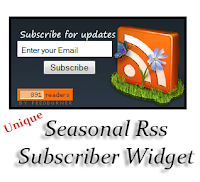 Rss Feed Seasonal Subscription Widget