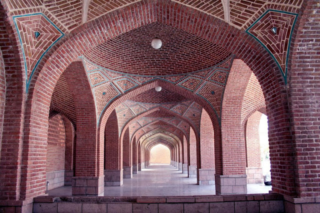 Brick works of Tabriz Blue mosque.