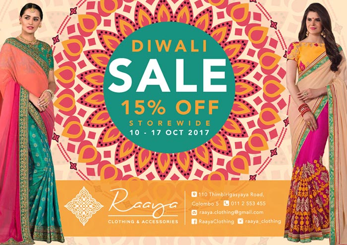 DIWALI SALE | 15% OFF STORE WIDE !! | Raaya Clothing & Accessories