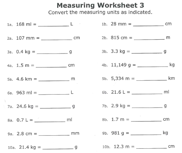 Miss Kahrimanis 39 S Blog Converting In The Metric System