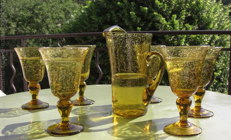 antiquit s brocante c te d 39 azur verre de biot vendu. Black Bedroom Furniture Sets. Home Design Ideas