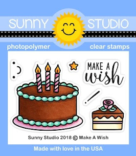 Sunny Studio Stamps: Introducing Make A Wish 2x3 Photopolymer Clear Birthday Cake Stamp Set