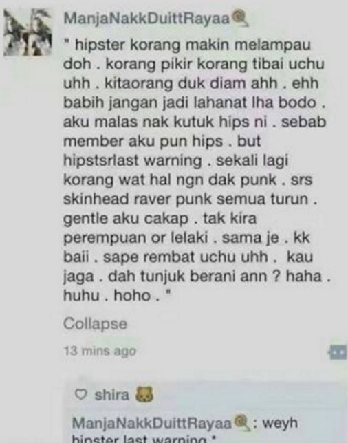 Budak Skinhead Beri Amaran Ingin 'Bersihkan' Kuala Lumpur Dari Raver Dan Hipster