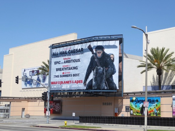 War for Planet of Apes movie reviews billboard
