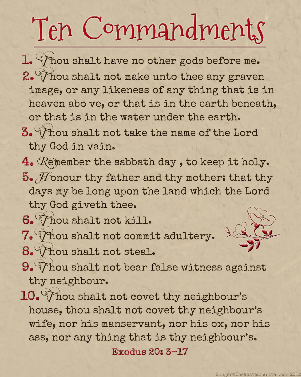 Search Results For Printable Ten Commandments For Kids
