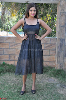 Pragya Nayan New Fresh Telugu Actress Stunning Transparent Black Deep neck Dress ~  Exclusive Galleries 005.jpg