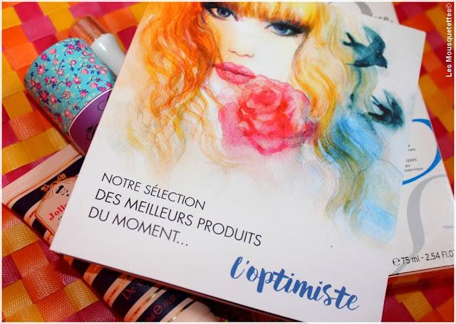 Ma Boîte à Beauté L'optimiste septembre 2016 - Blog beauté Les Mousquetettes©