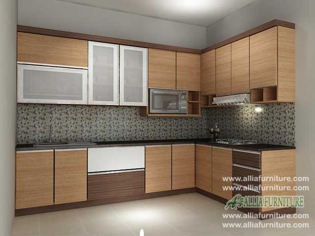kitchen set minimalis sudut L model otto