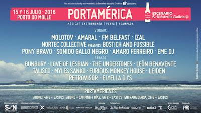 Festival Portamérica 2016 CARTEL