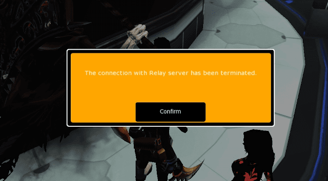 The connection with relay server has been terminated