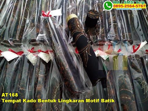 Grosir Tempat Kado Bentuk Lingkaran Motif Batik