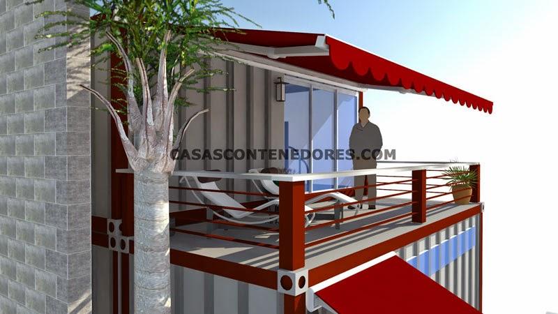 Casas Contenedores Diseño De Vivienda Con 3 Contenedores De 20 Pies