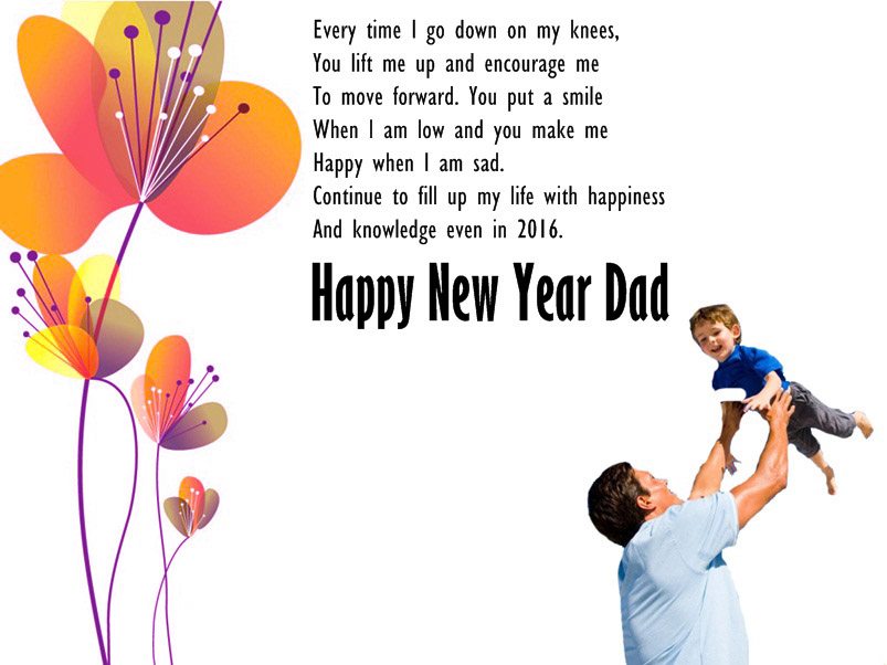 New Year Wishes Image for Dad