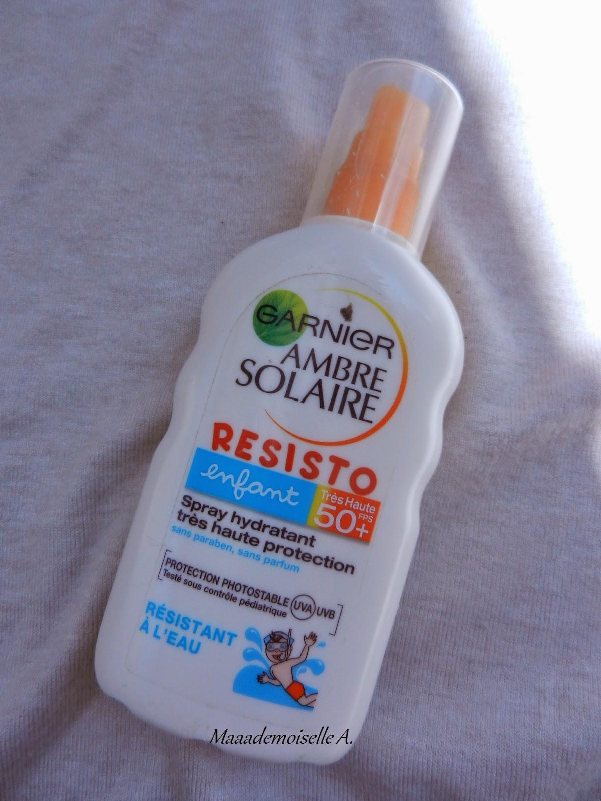 crème solaire garnier ambre solaire enfant resisto 50 +