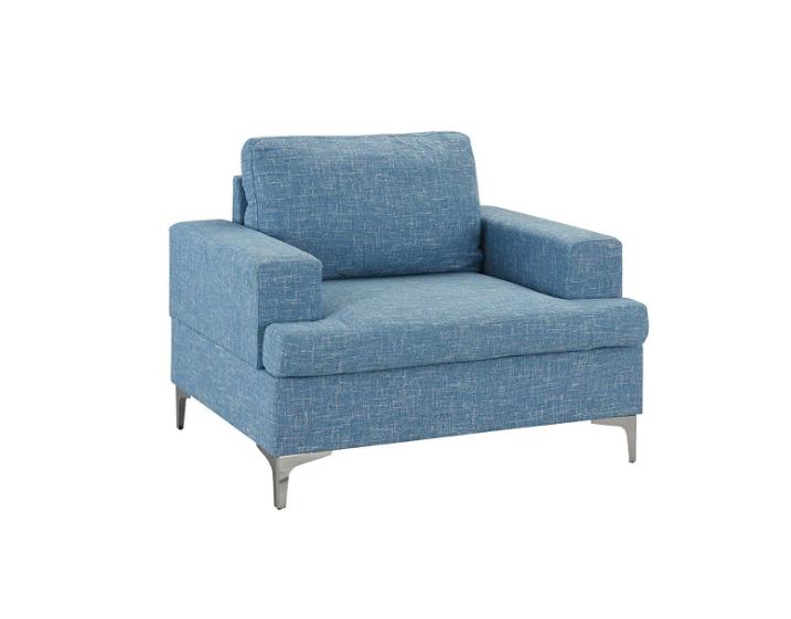 Mid Century Modern Linen Fabric Armchair