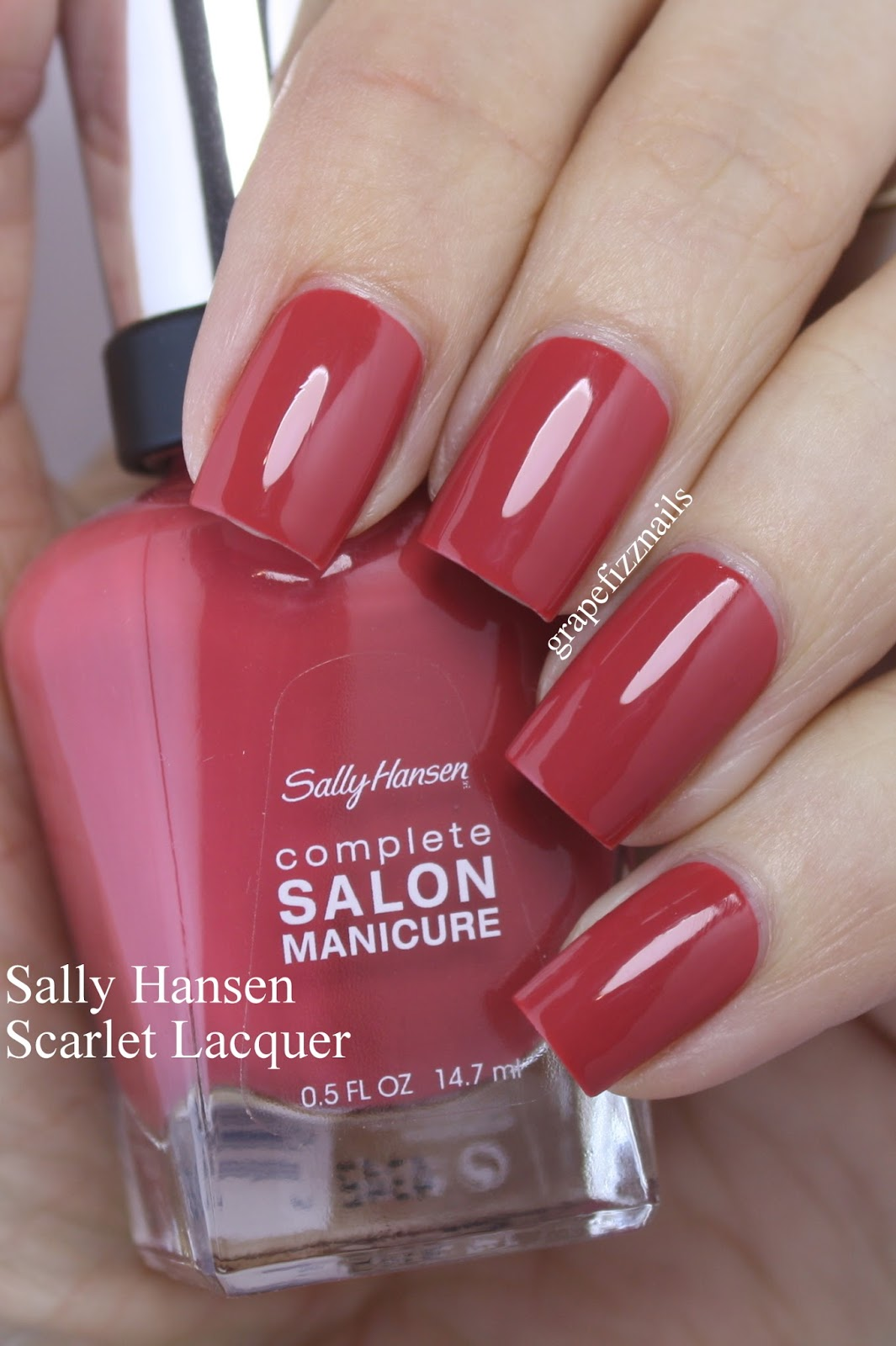 Grape fizz nails sally hansen fall collection 2016 for Salon manicure