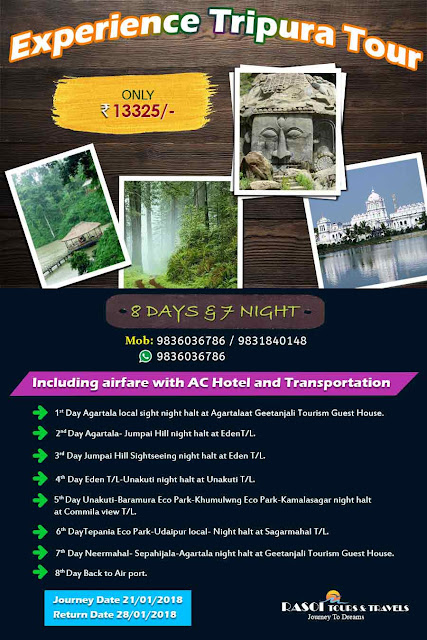 8 Days 7 Nights Tripura Tour form Kolkata