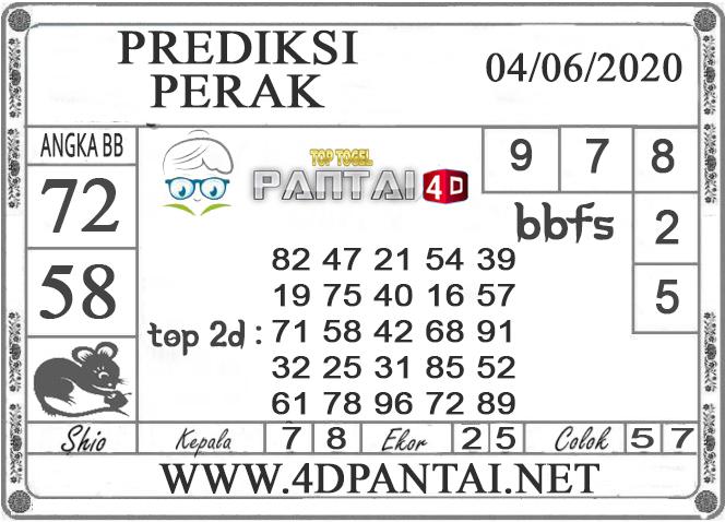 PREDIKSI TOGEL PERAK PANTAI4D 04 JUNI 2020