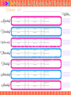 ultimate planning notebook workout meal tracker printable