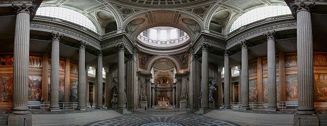 « Pantheon wider centered » par Jean-Pierre Lavoie (Jplavoie) — image:Pantheon_wider.jpg. Sous licence CC BY-SA 3.0 via Wikimedia Commons - https://commons.wikimedia.org/wiki/File:Pantheon_wider_centered.jpg#/media/File:Pantheon_wider_centered.jpg