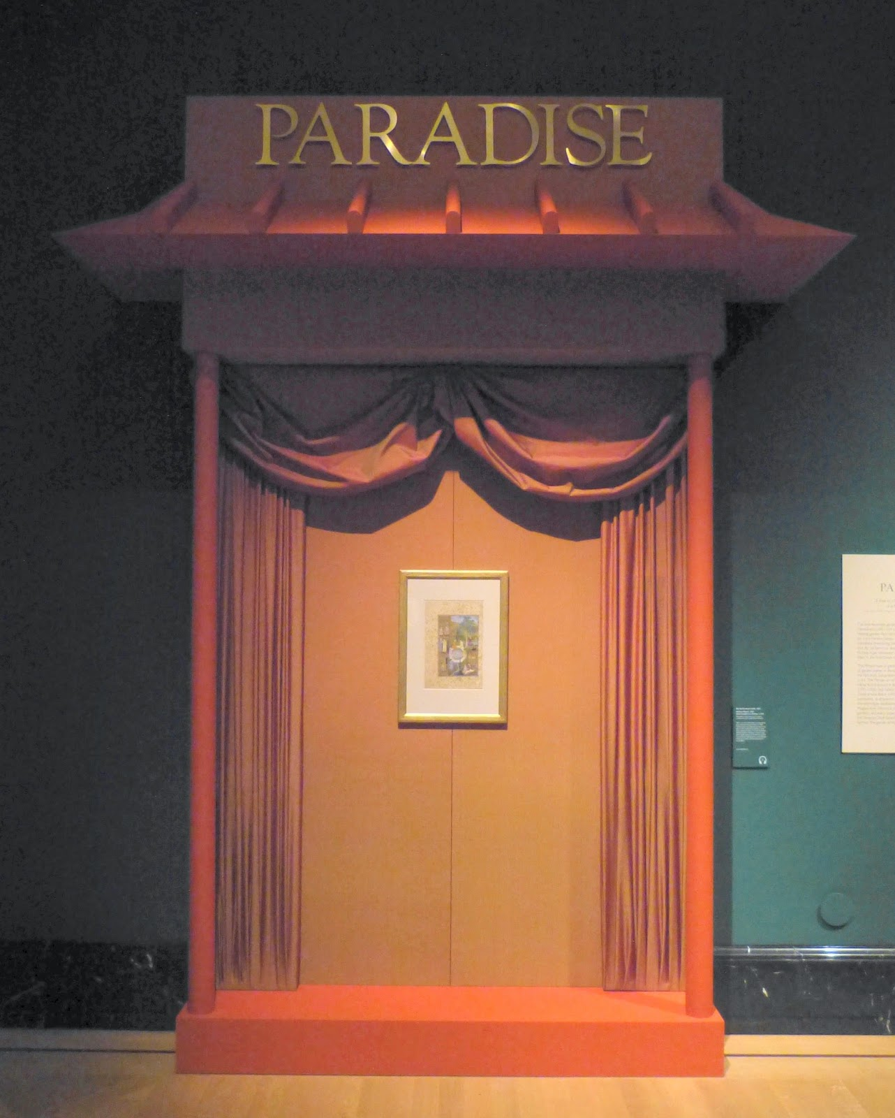 Paradise display in Painting Paradise exhibition