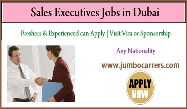 Dubai sales executive jobs for Indians, Male job vacancies in Dubai UAE,