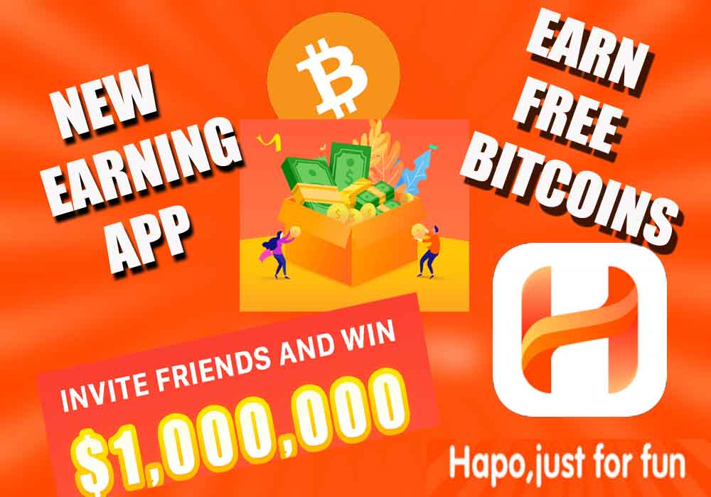How To Earn Money From Hapo App   Earn Free And Unlimited Bitcoin