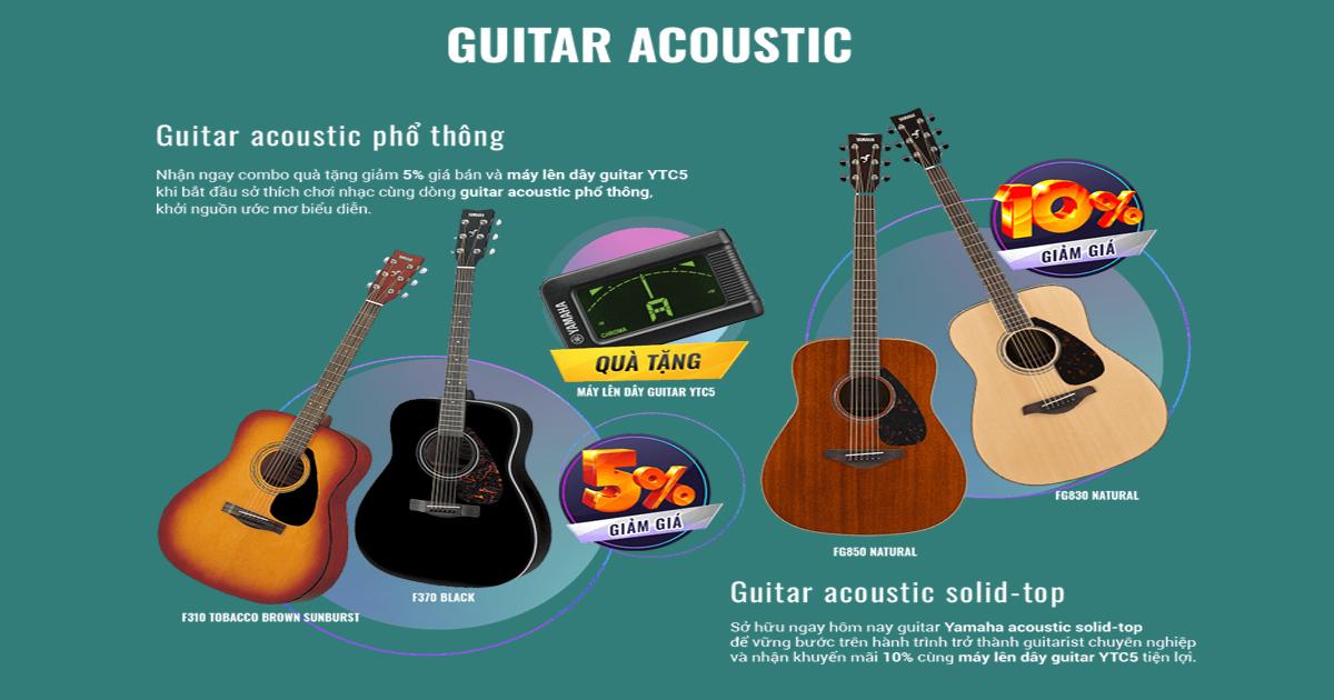 kinh nghiệm chọn đàn guitar cho người mới học