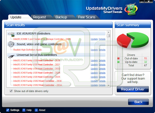 UpdateMyDrivers (Falso optimizador)