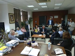 Επίσκεψη υφυπουργού Αγροτικής Ανάπτυξης και Τροφίμων στον Δήμο Ηγουμενίτσας