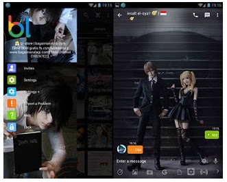 BBM Mod Death Note Cosplay V2.13.1.14 Apk