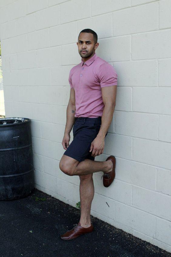 Look Masculino com Camisa Polo com Bermuda